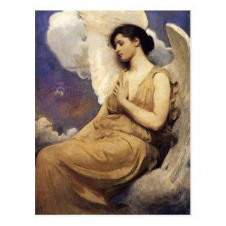 Figura coa alas Thayer postal de Abbott Handerson