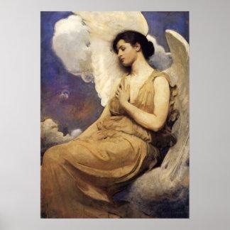 Figura coa alas Thayer poster de Abbott Handerson