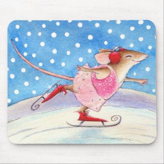 Figura cojín de ratón del ratón del patinador tapetes de ratón