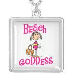 Figura collar del palillo de la diosa de la playa