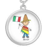 Figura collar del palillo de México del muchacho