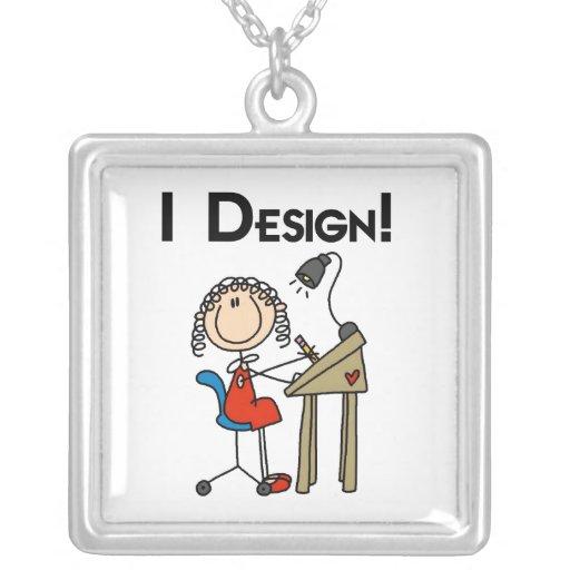 Figura collar del palillo del diseñador gráfico