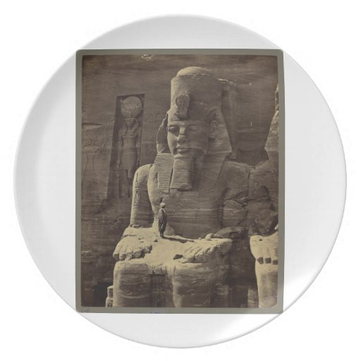 Figura colosal, Abu Sunbul, Egipto circa 1856 Platos