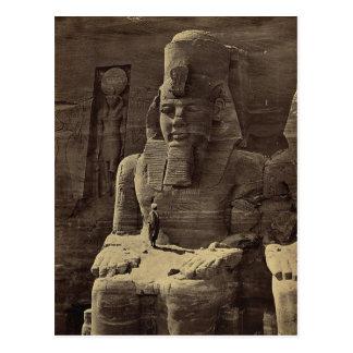 Figura colosal, Abu Sunbul, Egipto circa 1856 Tarjetas Postales