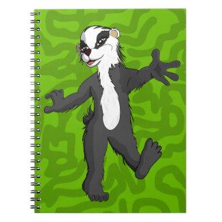 Figura completa del tejón de Belinda Cuadernos
