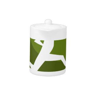 Figura corriente botón del palillo del verde del