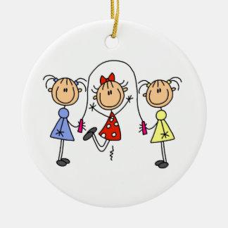 Figura cuerda del palillo de salto de los chicas ornamento para arbol de navidad