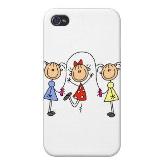 Figura cuerda del palillo de salto de los chicas iPhone 4 protector