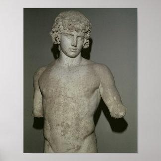 Figura de Antinous, después del ANUNCIO 130 Póster