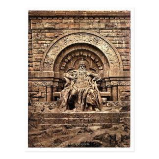 Figura de Barbarossa, de Kyffhauser y del monument Tarjeta Postal