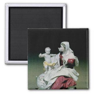 Figura de Chelsea de Madonna y del niño Imán Cuadrado