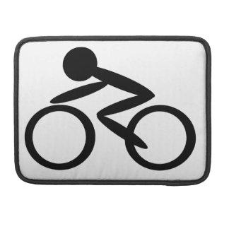 Figura de ciclo del palillo fundas para macbooks