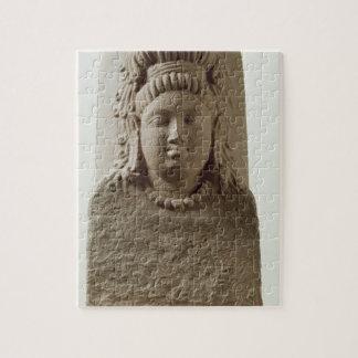 Figura de Ekamukha Siva-Linga del templo en K Rompecabeza Con Fotos