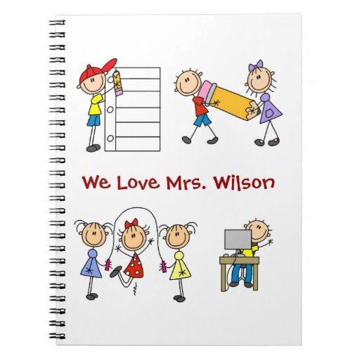 Figura de encargo cuaderno del palillo del profeso