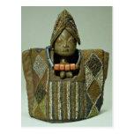 Figura de Ibeji, gente de Yoruba, Nigeria Tarjetas Postales