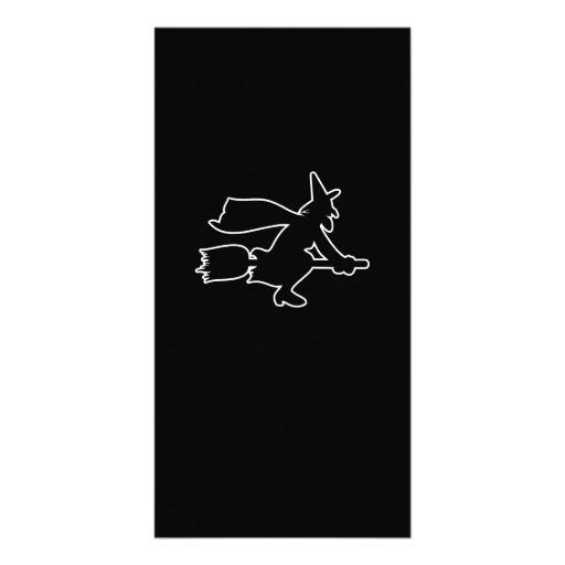 Figura de la bruja tarjetas personales con fotos
