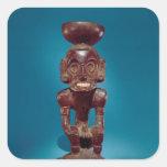 Figura de la deidad, República Dominicana Pegatina Cuadrada