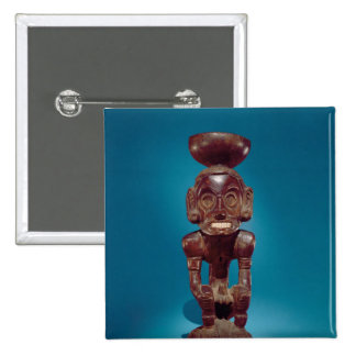 Figura de la deidad, República Dominicana Pin Cuadrada 5 Cm