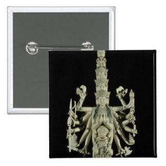 Figura de la diosa hindú Kali Pin Cuadrada 5 Cm