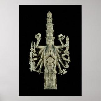 Figura de la diosa hindú Kali Póster