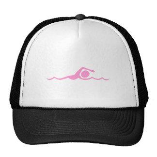 Figura de la natación - rosa gorras