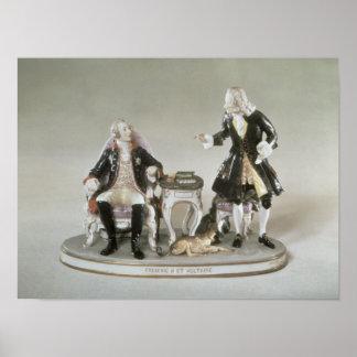 Figura de la porcelana de Frederick II de Prusia Póster