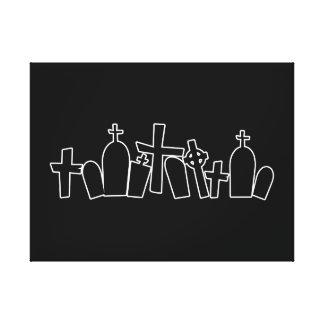 Figura de las tumbas de Halloween Impresión De Lienzo
