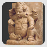 Figura de Siva como Vamana, maharashtra de Mansar Calcomanía Cuadradas Personalizadas