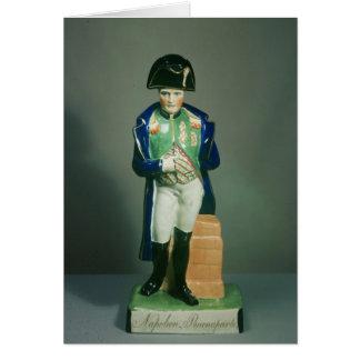 Figura de Staffordshire de Napoleon Bonaparte Tarjeta De Felicitación