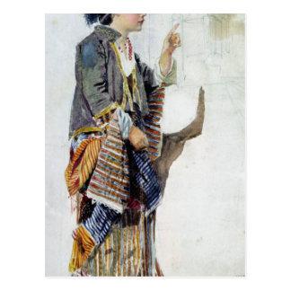 Figura de un chica en traje turco, siglo XIX Postales