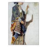 Figura de un chica en traje turco, siglo XIX Tarjeta