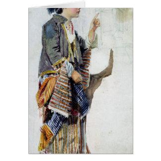 Figura de un chica en traje turco, siglo XIX Tarjeta De Felicitación
