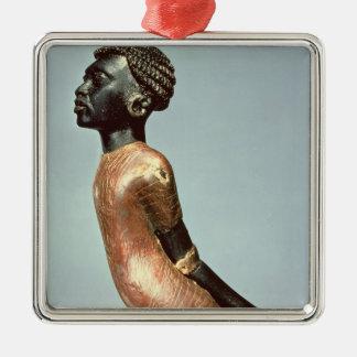 Figura de un hombre africano del final de adornos de navidad