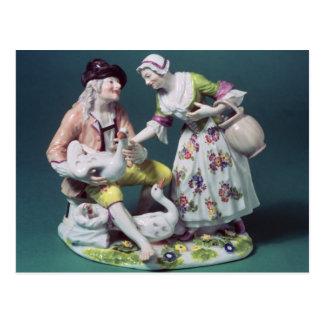 Figura de un vendedor de las aves de corral, c.175 postales
