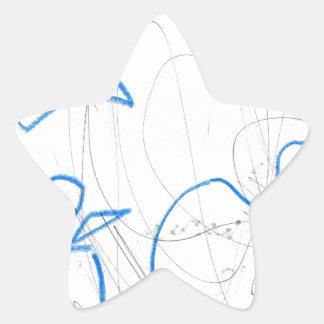 Figura de una mujer calcomanía cuadrada