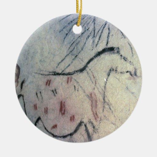 Figura de una yegua embarazada con la línea parale adorno de reyes