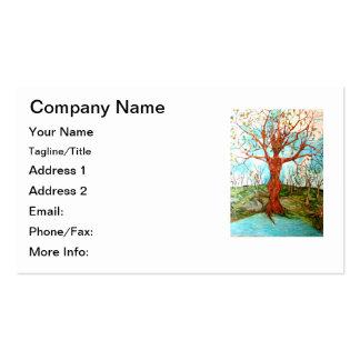 Figura del árbol de la diosa en la pintura tarjetas de visita