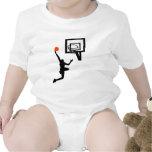 Figura del baloncesto que hace un Layup Traje De Bebé