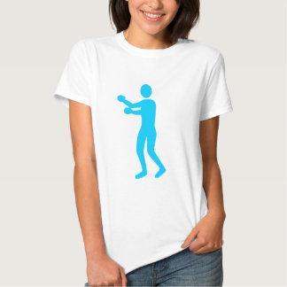 Figura del boxeo - azul de cielo camisas