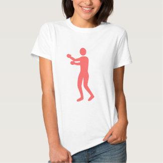 Figura del boxeo - rosa tropical playera
