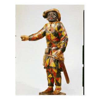 Figura del Harlequin del teatro de Seraphin Tarjetas Postales