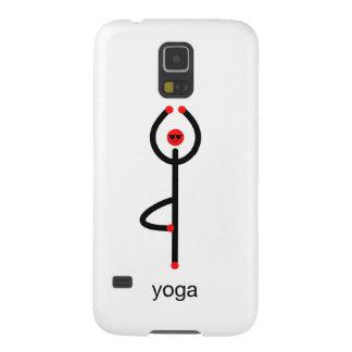 Figura del palillo de la actitud de la yoga del carcasa galaxy s5