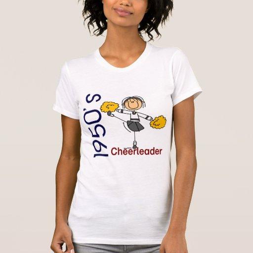 figura del palillo de la animadora de los años 50 t-shirts