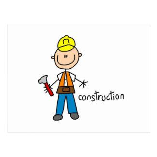 Figura del palillo de la construcción tarjetas postales