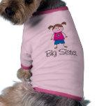 figura del palillo de la hermana grande camisa de mascota