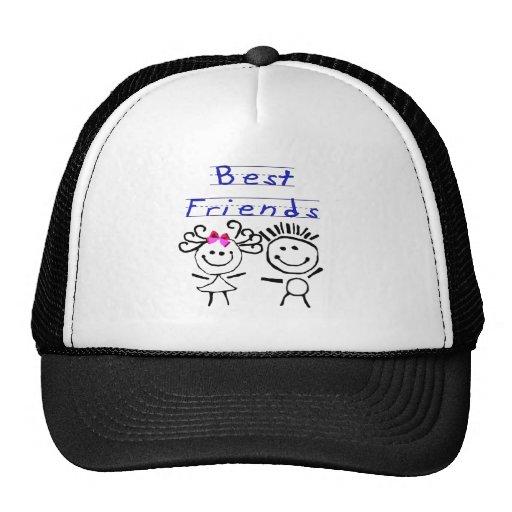 Figura del palillo de los mejores amigos gorras