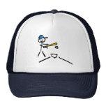 Figura del palillo del béisbol gorra