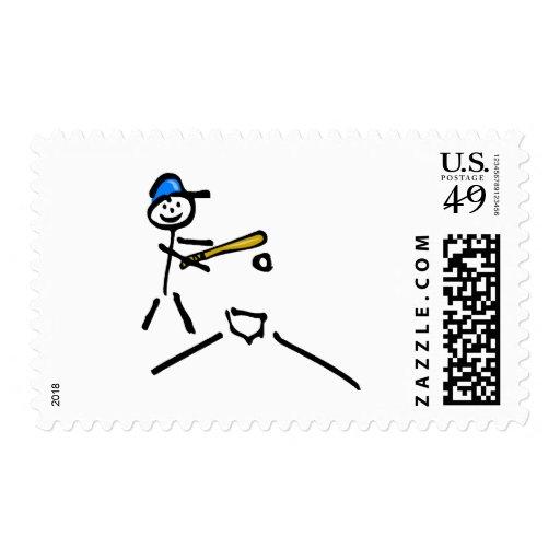Figura del palillo del béisbol timbre postal