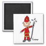 Figura del palillo del bombero imanes para frigoríficos