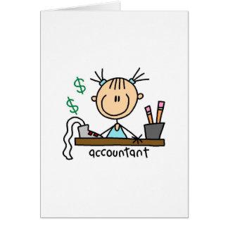 Figura del palillo del contable tarjetas